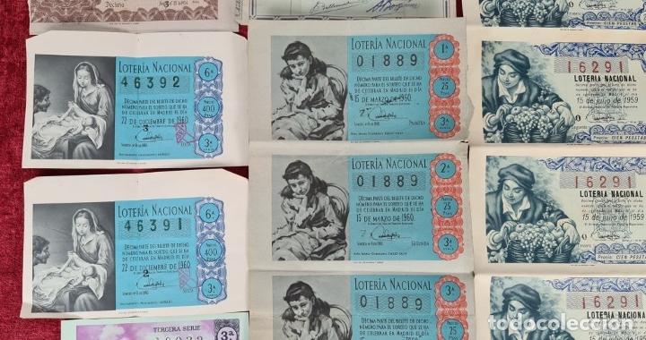 Lotería Nacional: COLECCION DE 19 BILLETES DE LOTERIA NACIONAL. VARIAS ADMINISTRACIONES. SIGLO XX. - Foto 3 - 277571073