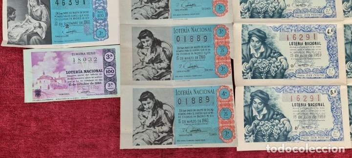 Lotería Nacional: COLECCION DE 19 BILLETES DE LOTERIA NACIONAL. VARIAS ADMINISTRACIONES. SIGLO XX. - Foto 4 - 277571073