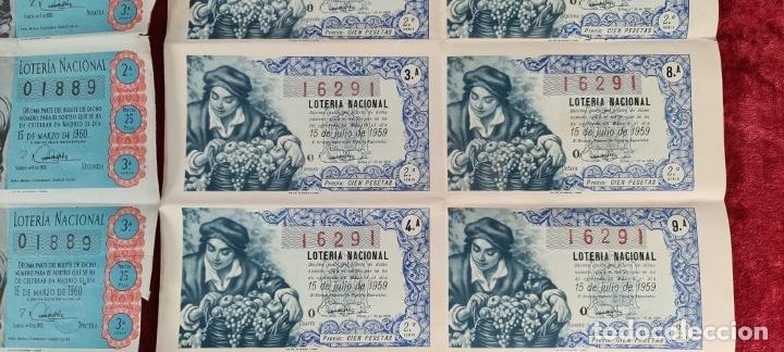 Lotería Nacional: COLECCION DE 19 BILLETES DE LOTERIA NACIONAL. VARIAS ADMINISTRACIONES. SIGLO XX. - Foto 6 - 277571073