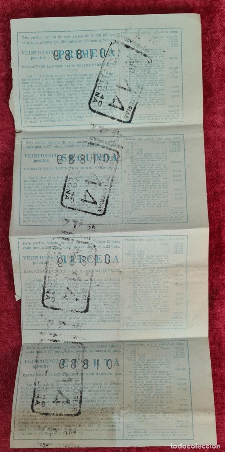 Lotería Nacional: COLECCION DE 19 BILLETES DE LOTERIA NACIONAL. VARIAS ADMINISTRACIONES. SIGLO XX. - Foto 7 - 277571073
