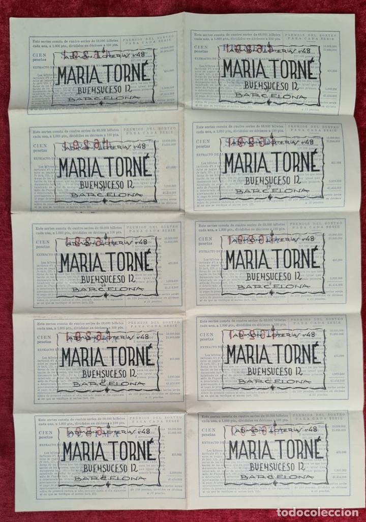Lotería Nacional: COLECCION DE 19 BILLETES DE LOTERIA NACIONAL. VARIAS ADMINISTRACIONES. SIGLO XX. - Foto 8 - 277571073