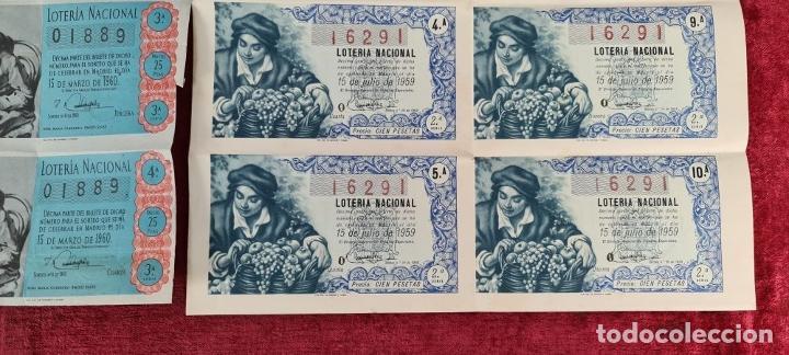 Lotería Nacional: COLECCION DE 19 BILLETES DE LOTERIA NACIONAL. VARIAS ADMINISTRACIONES. SIGLO XX. - Foto 9 - 277571073