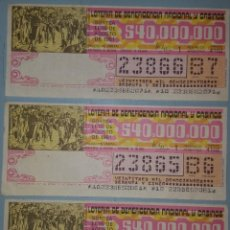 Lotería Nacional: LOTE DE 5 BILLETES LOTERIA ARGENTINA 1981. Lote 280127498