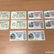 Lotería Nacional: LOTE 10 DECIMOS DE LOTERIA NACIONAL ANTIGUOS. Lote 280811603