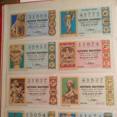 Lotería Nacional: LOTERIA- COLECCION COMPLETA DE DECIMOS DESDE 1967 A 1987,MAS LOS 39 PRIMEROS DE 1988.CALIDAD EXTRA.. Lote 287714218