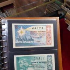 Lotería Nacional: AÑO DE LOTERÍA 1964 COMPLETO INCLUIDAS LAS HOJAS. Lote 288082738