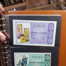 Lotería Nacional: LOTERÍA NACIONAL AÑO COMPLETO 1966 INCLUIDAS LAS HOJAS. Lote 288083378