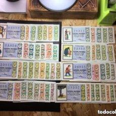 Lotería Nacional: ENVÍO GRATIS LOTE 57 DECIMOS LOTERIA AÑO 1969 TODAS LAS SERIES DE CADA SORTEO DE LAS FOTOS. Lote 288093908