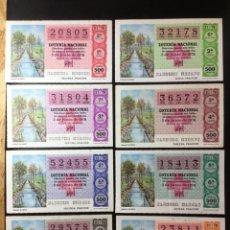 Lotería Nacional: ENVÍO GRATIS LOTE 8 DECIMOS LOTERIA 1978 CRUZ ROJA (TODAS LAS SERIES). Lote 288396888