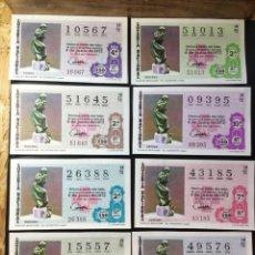 Lotería Nacional: ENVÍO GRATIS LOTE 8 DECIMOS LOTERIA 1972 CRUZ ROJA (TODAS LAS SERIES). Lote 288397073