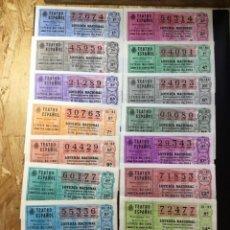 Lotería Nacional: ENVÍO GRATIS LOTE 15 DECIMOS LOTERIA 1981 CRUZ ROJA (TODAS LAS SERIES). Lote 288397628