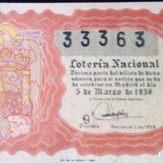Lotería Nacional: 1958 SORTEO 7. Lote 288404923