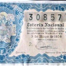 Lotería Nacional: 1958 SORTEO 13. Lote 288405053