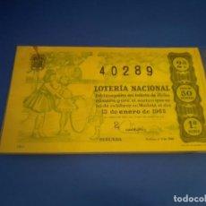 Lotería Nacional: LOTERIA 1963 SORTEO 2. Lote 289198568