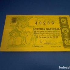 Lotería Nacional: LOTERIA 1963 SORTEO 2. Lote 289198623