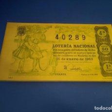 Lotería Nacional: LOTERIA 1963 SORTEO 2. Lote 289198683
