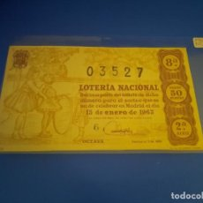 Lotería Nacional: LOTERIA 1963 SORTEO 2. Lote 289198723