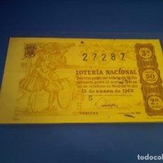 Lotería Nacional: LOTERIA 1963 SORTEO 2. Lote 289198773