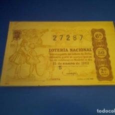 Lotería Nacional: LOTERIA 1963 SORTEO 2. Lote 289198808