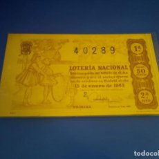 Lotería Nacional: LOTERIA 1963 SORTEO 2. Lote 289198903