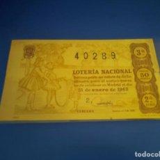 Lotería Nacional: LOTERIA 1963 SORTEO 2. Lote 289198928