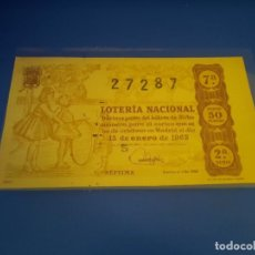 Lotería Nacional: LOTERIA 1963 SORTEO 2. Lote 289199008