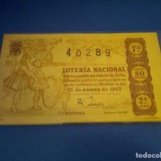 Lotería Nacional: LOTERIA 1963 SORTEO 2. Lote 289199038