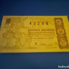 Lotería Nacional: LOTERIA 1963 SORTEO 2. Lote 289199058