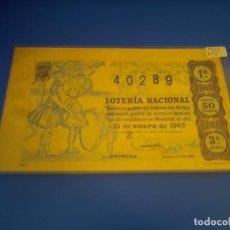 Lotería Nacional: LOTERIA 1963 SORTEO 2. Lote 289199178