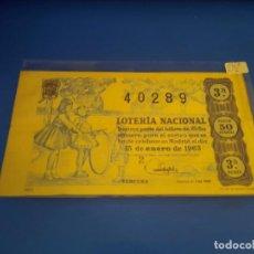 Lotería Nacional: LOTERIA 1963 SORTEO 2. Lote 289199298