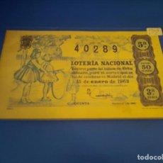 Lotería Nacional: LOTERIA 1963 SORTEO 2. Lote 289199348