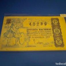 Lotería Nacional: LOTERIA 1963 SORTEO 2. Lote 289199383