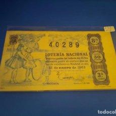 Lotería Nacional: LOTERIA 1963 SORTEO 2. Lote 289199428