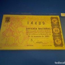 Lotería Nacional: LOTERIA 1963 SORTEO 2. Lote 289199463