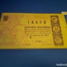 Lotería Nacional: LOTERIA 1963 SORTEO 2. Lote 289199488