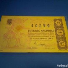 Lotería Nacional: LOTERIA 1963 SORTEO 2. Lote 289199563