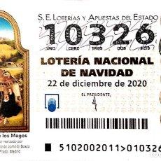 Lotería Nacional: ESPAÑA. LOTERÍA. 2020. SORTEO: 102 LA ADORACIÓN DE LOS MAGOS DEL BOSCO. MUSEO DEL PRADO. FECHA: 22 D. Lote 289837008