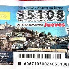 Lotería Nacional: ESPAÑA. LOTERÍA. 2021. SORTEO: 67 BIENES PATRIMONIO MUNDIAL: IBIZA, BIODIVERSIDAD Y CULTURA (BALEAR. Lote 289837258