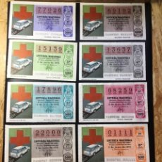 Lotería Nacional: ENVÍO GRATIS LOTE 9 DECIMOS LOTERÍA 1979 SORTEO 21/79 CRUZ ROJA (TODAS LAS SERIES). Lote 289872368