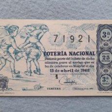 Lotería Nacional: DÉCIMO. SORTEO Nº: 11 DE 1963.. Lote 290979628