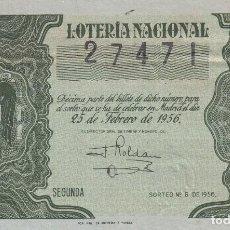 Lotería Nacional: LOTERIA NACIONAL SORTEO 6 DE 1956. Lote 291420953