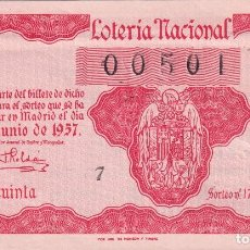 Lotería Nacional: LOTERIA NACIONAL SORTEO 17 DE 1957. Lote 291424108