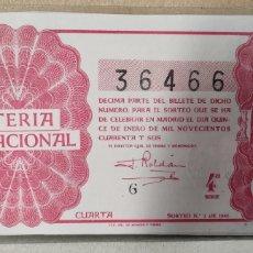 Lotería Nacional: LOTERÍA NACIONAL 1946 SORTEO 2. Lote 294062823