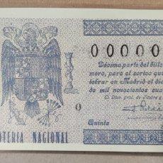 Lotería Nacional: LOTERÍA NACIONAL 1946 SORTEO 3 00000. Lote 294063588
