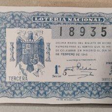 Lotería Nacional: LOTERÍA NACIONAL 1946 SORTEO 5. Lote 294063858