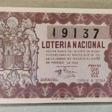 Lotería Nacional: LOTERÍA NACIONAL 1946 SORTEO 9. Lote 294065668