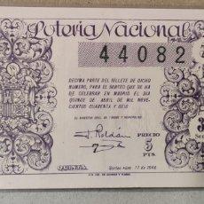 Lotería Nacional: LOTERÍA NACIONAL 1946 SORTEO 11. Lote 294065943