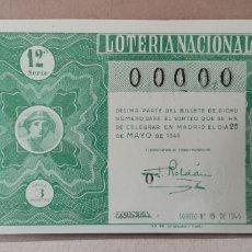 Lotería Nacional: LOTERÍA NACIONAL 1946 SORTEO 15 00000. Lote 294068968