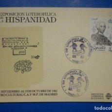 Lotería Nacional: MATASELLOS 1ª EXPOSICIÓN LOTEROFILIA DE LA HISPANIDAD - ASOCIACIÓN LOTEROFILIA HISPANIA - 1982. Lote 145667510