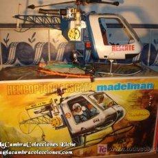 Madelman: ¡¡LOS ORIGINALES!! EL DIFICIL HELICÓPTERO DE RESCATE REF. 711 EN CAJA, EXCELENTE. Lote 26501635